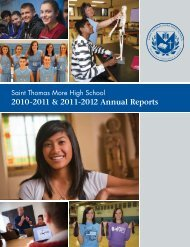 2010-2011 & 2011-2012 Annual Reports - Thomas More High School