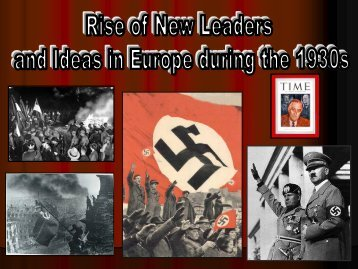 Hitler's rise to power - Solon City Schools