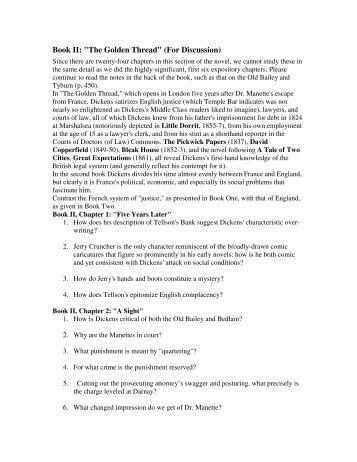 "Book II: ""The Golden Thread"" (For Discussion) - Solon City Schools"