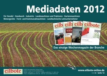 Mediadaten 2012 - Eilbote Boomgaarden Verlag Gmbh