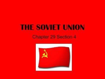 THE SOVIET UNION - Solon City Schools