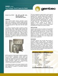 Low Voltage Fixed Capacitor Bank - Gentec