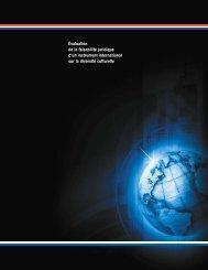 Évaluation de la faisabilité juridique d'un instrument international sur ...