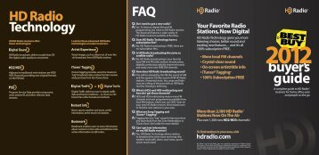 buyer's guide 2012 HD Radio Technology FAQ Your Favorite Radio ...