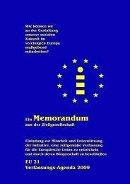 Memorandum der Initiative »EU21 - Wir sind Deutschland. - IMC