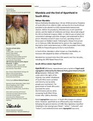 Mandela and the End of Apartheid in South Africa - Solon City Schools