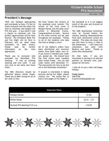 school pta newsletter template