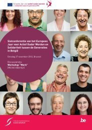 Discussienota Werk - Europees Jaar 2012