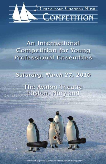 The Avalon Theatre Easton, Maryland - Chesapeake Chamber Music