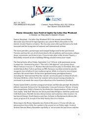 Monty Alexander Jazz Festival Lights Up Labor Day Weekend in ...