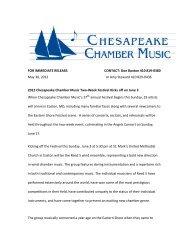 2012 Chesapeake Chamber Music Two-Week Festival Kicks off on ...