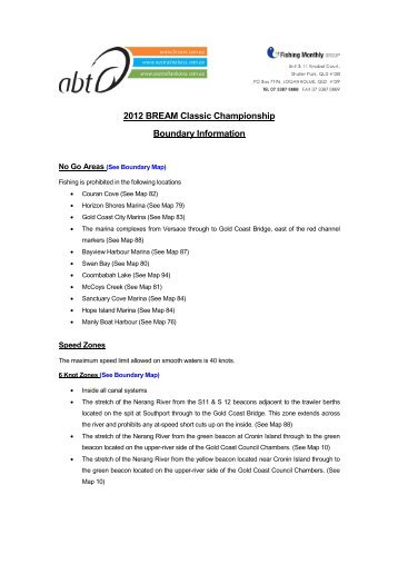 2012 BREAM Classic Championship Boundary Information
