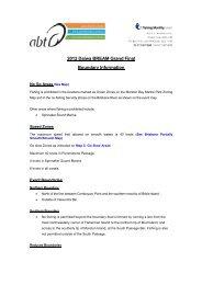 2012 Daiwa BREAM Grand Final Boundary Information
