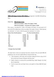 BREAM Super Series 2011 Rules - an appendix to the BREAM ...