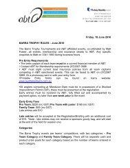 Friday, 18 June 2010 BARRA TROPHY RULES – June ... - bream