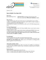 Daiwa BARRA Tour Rules 2010 - bream