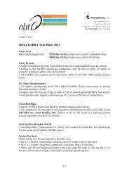 Daiwa BARRA Tour Rules 2011 - bream
