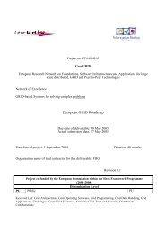 European GRID Roadmap - CoreGRID Network of Excellence - Ercim