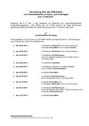 Verordnung über das Offenhalten von ... - Stadt Oberhausen