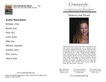 Jodi Picoult Booklist