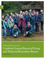 Combined Annual Report of Giving and Trails & Restoration Report