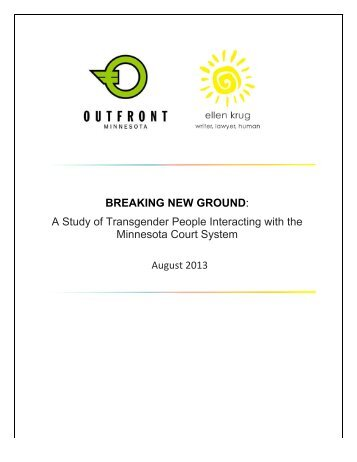 A Study of Transgender People Interacting with the Minnesota Court ...