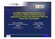 CoreGRID: European Research Network on Foundations, Software ...