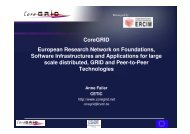 CoreGRID pres by Cetic 20041216 - CoreGRID Network of Excellence