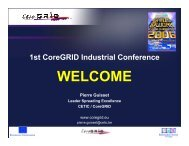 Welcome - Pierre Guisset - CoreGRID Network of Excellence