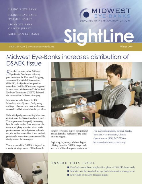 SightLine - Michigan Eye Bank