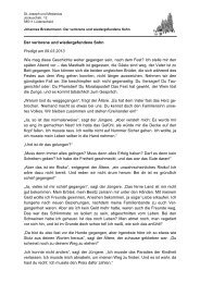 Der verlorene und wiedergefundene Sohn Predigt am 09.03.2013 ...
