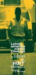 Latein amerika nische Filmtage Peru - Filmstadt München