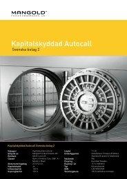 kapitalskyddad autocall svenska bolag 2 - Mangold Fondkommission