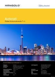 autocall global ackumulerande 7 + - Mangold Fondkommission