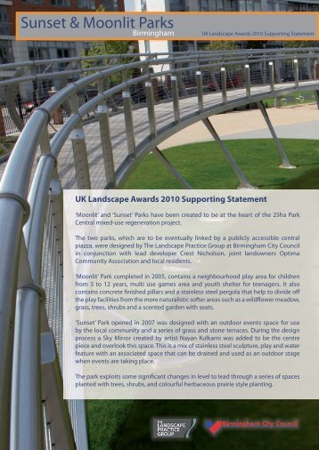 Attwood Green UK Landscape Awards 2010 Supporting Statement ...