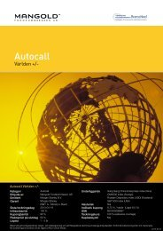 autocall världen + - Mangold Fondkommission