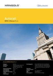 autocall brec offensiv 5 + - Mangold Fondkommission