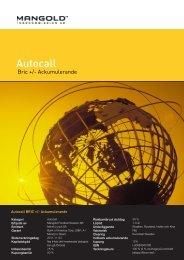Autocall BRIC +/- Ackumulerande - Mangold Fondkommission