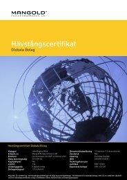 hävstångscertifikat globala bolag - Mangold Fondkommission