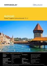 autocall global trygghet ackumulerande 12 + - Mangold ...