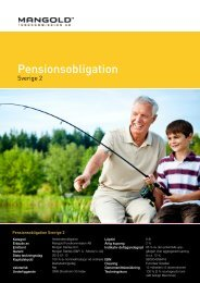 pensionsobligation sverige 2 - Mangold Fondkommission