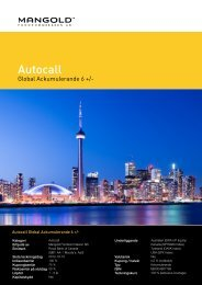 autocall global ackumulerande 6 + - Mangold Fondkommission
