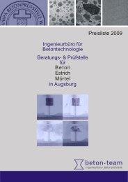 Deckblatt Preisliste.cdr - beton-team Augsburg