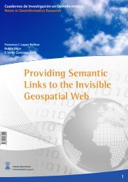 Providing Semantic Links to the Invisible Geospatial Web 1