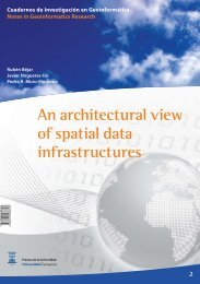 An architectural view of spatial data infrastructures - Universidad de ...
