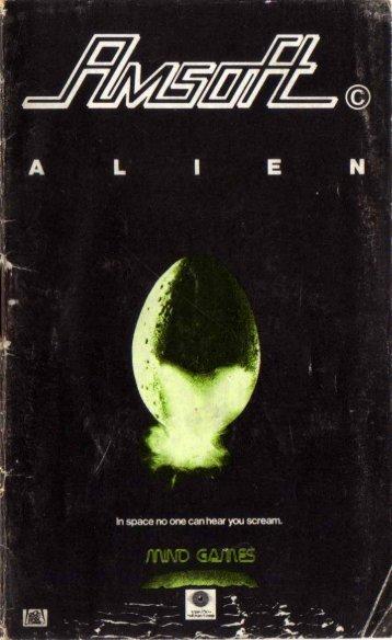 Alien (disc) (Amsoft) Manual - CPCWiki