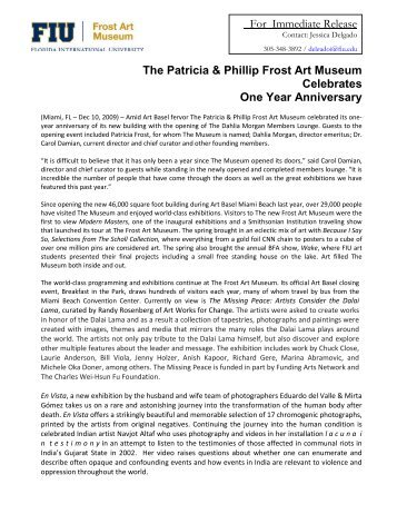 The Patricia & Phillip Frost Art Museum Celebrates One Year ...