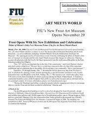 ART MEETS WORLD FIU's New Frost Art Museum Opens November ...