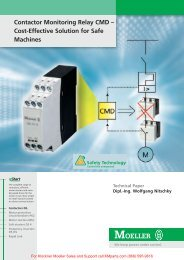 Contactor Monitoring Relay CMD - Cost ... - Klockner Moeller Parts