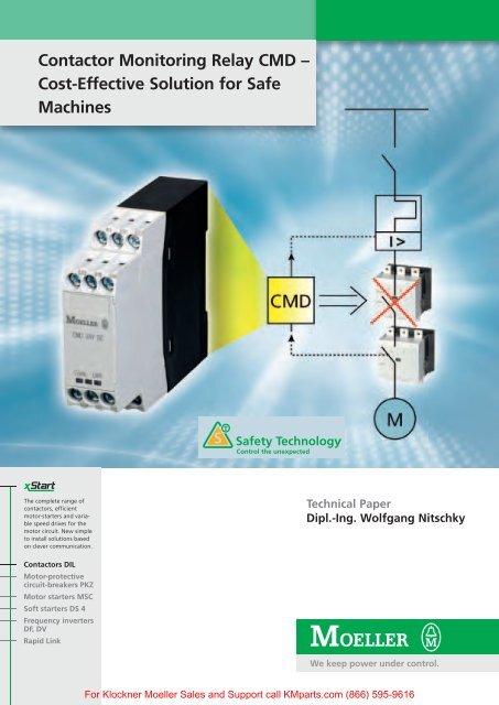 Contactor Monitoring Relay CMD - Cost     - Klockner Moeller
